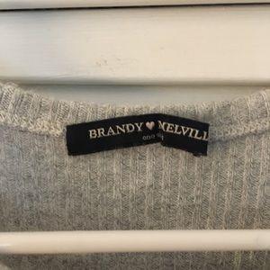 Brandy Melville Tops - Brandy Melville Ribbed High Neck Tank